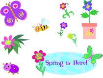 Mix Of Spring Is Here Stock Photography