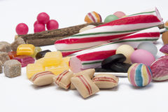 Mix of old dutch candy. Old dutch candy  on white background Stock Images