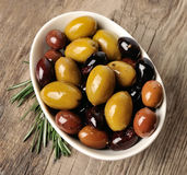 Mix of olives. Stock Photo