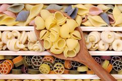 Mix of pasta Royalty Free Stock Photos