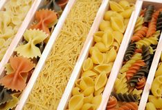 Mix of pasta Royalty Free Stock Images