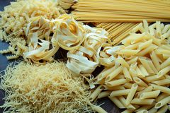 Mix of pasta Stock Images
