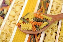 Mix of pasta Stock Photos
