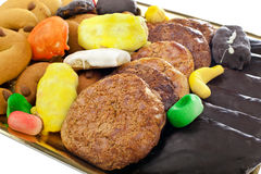 Mix of pastries and cookies Royalty Free Stock Images