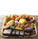 Mix of pastries and cookies Royalty Free Stock Image