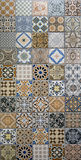 Mix pattern mosaic tiles. For interior Stock Image