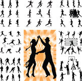 Mix people silhouette  Royalty Free Stock Image