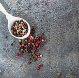 Mix pepper in grunge background. Mix pepper in grunge abstract background Stock Photo