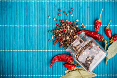 Mix of peppercorns Royalty Free Stock Images
