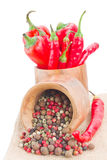 Mix of peppers Royalty Free Stock Image