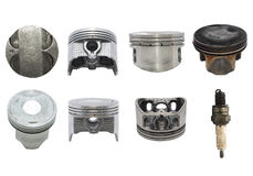 Mix pistons both old and new. Royalty Free Stock Photos