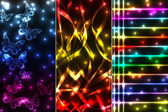 Mix of plasma banners Royalty Free Stock Photos