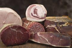 Mix of pork salami Stock Photography