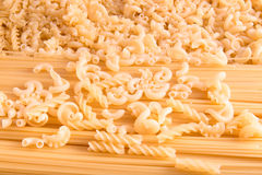 Mix of raw pasta Stock Image