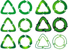 Mix of recycle icons Royalty Free Stock Photo
