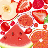 Mix red fruits and berries Royalty Free Stock Photo