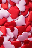 Mix of red and pink hearts Stock Photography