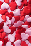 Mix of red and pink hearts Royalty Free Stock Photography