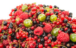 Mix ripe berries Royalty Free Stock Photos