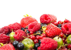 Mix ripe berries Stock Image