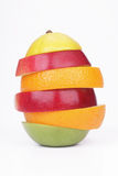 Mix from ripe fruit. On white background Stock Photography