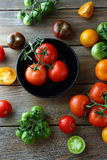 Mix of ripe tomatoes Royalty Free Stock Image