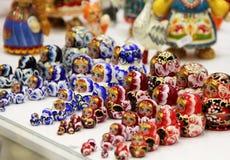 Mix of Russian Babushkas Stock Photo