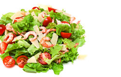 Mix salad. Isolated on a white background Stock Images