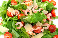 Mix salad. Isolated on a white background Royalty Free Stock Image