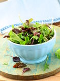 Mix salad (arugula, iceberg, red beet) Royalty Free Stock Photos
