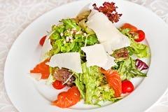 Mix salad with salmon Stock Image