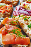 Mix of sandwiches Stock Photography
