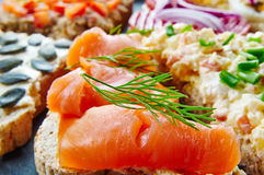 Mix of sandwiches Stock Images