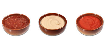 Mix of sauces Royalty Free Stock Photography