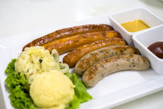 Mix sausage Stock Images