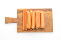 mix sausage on white background Royalty Free Stock Photos