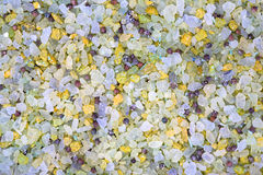 Mix from sea salt and fragrant grasses Stock Image