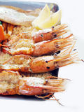 Mix seafood Grill Royalty Free Stock Image