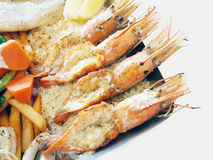 Mix seafood Grill Royalty Free Stock Images