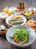 Mix of Seafood Set Menu fresh Stock Photo