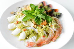 Mix seafood Royalty Free Stock Image