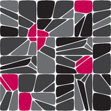 Mix seamless mosaic  pattern Stock Photos