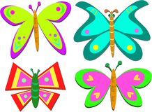 Mix of Shapely Butterflies Royalty Free Stock Images