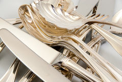 Mix of Silver flatware Stock Photography