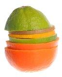 Mix of sliced fruit Royalty Free Stock Image