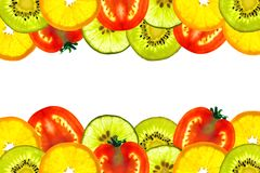 Mix sliced fruit Royalty Free Stock Photos