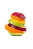Mix of sliced fruit Stock Image