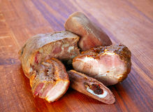 Mix smoked meat Royalty Free Stock Photo