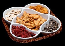 Mix snacks Royalty Free Stock Photography