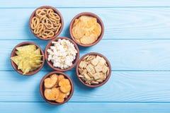 Mix of snacks royalty free stock photo